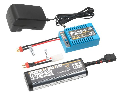バッテリー&充電器シリーズ No.107 LF2200-6.7V レーシングパック & タミヤ LF-6.6Vバッテリー 55107