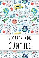 Notizen von Guenther: Liniertes Notizbuch fuer deinen personalisierten Vornamen