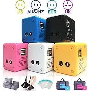 只今感謝セール中 通常1680円 → 1470円 海外旅行 便利グッズ コンセント 変換 プラグ 旅行充電器 2USBポート付 USB充電器 100-240V 世界中150ケ以上の国で使えます。 スマホ充電 急速充電 (アメリカ、ヨーロッパ、アジア、オーストラリア等)   世界に対応しています。 また、USB出力も2口ありますので スマートフォン等の充電も可能です。 海外 変換プラグ 海外旅行 コンセント 変換 プラグ 世界 対応 変換 アダプタ ヨーロッパ アメリカ アジア フランス 変換プラ...