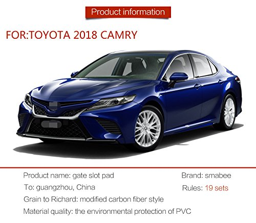 『に適用する トヨタ カムリ 10代目専用 ドアポケットマット コンソールマットフロアマット 内 内装 ドレスアップ アクセサリー カ CAMRY (2018) 青/赤/光沢のある白/黒 19P (青)』の2枚目の画像