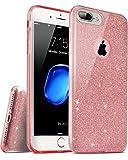 【TOZO®】for iPhone7plus ケース カバーケース キラキラシリーズ[ブリンクリスタル] 超薄型 超軽量 三重保護 耐衝撃 半透明 フィット感 iPhone7 plus 5.5インチ対応 [ピンク]