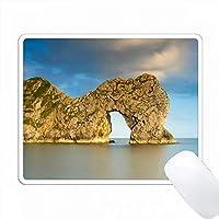 ジュラシック・コースト(Dorset、England)のDurdle Doorでのイブニング PC Mouse Pad パソコン マウスパッド