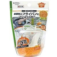 まめいた キッチンスポンジ 手にぴた 鍋・フライパン洗い オレンジ 本体 特殊加工フライパン対応 KB-451