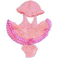 Lovoski かわいい ドットドレス & パンツ & 帽子 セット  18インチ アメリカンガールドール適用  装飾