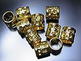 メタルビーズ パーツI ゴールド 11×10ミリ 10個セット