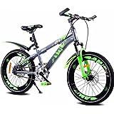 Duwen子供の自転車子供の単一速度マウンテン自転車18インチ20インチブルー