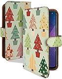 Google Pixel 3 ケース 手帳型 北欧 カラフル ツリー 北欧柄 クリスマス スマホケース グーグルピクセル3 手帳 カバー GOOGLEPIXEL3 Pixel3ケース Pixel3カバー 北欧デザイン クリスマスツリー [北欧 カラフル ツリー/t0708c]