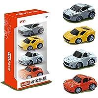 wenasi Kids Toy Pull Back Cars合金Vehicles Set 4 pcs車モデルfor Toddlers子供の日ギフト