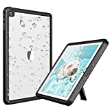 Deepsonic iPad 2017/2018 防水ケース タブレットケース 9.7インチ対応 耐衝撃 IP68防水規格 水場 薄型 全面保護アイパッドカバー スタンド機能 安心感 ストラップ付き アウトドア お風呂 プール A1893 A1954 A1822 A1823適用