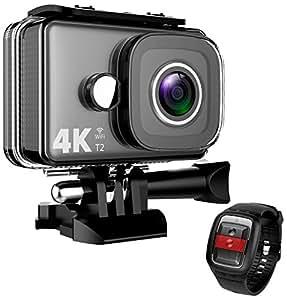 TEC。Bean 4KカメラアクションカメラWiFi 14MPウルトラHD防水スポーツカム148ft/45m水中カメラ170度広角レンズと2.4Gリモート付き、RechangeableバッテリーとAccessriesキット