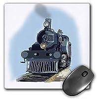 3drose LLC 8x 8x 0.25インチマウスパッド、デジタルオイルトレイン蒸気機関車とレール付き車のペイント(MP 39212_ 1)