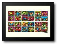 Retrospect 198932x 24額入りアートプリントby Haring、Keith