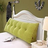 29-Haiyaosales 三角形のソファーベッド取り外し可能なカバー、10色、7つのサイズが付いている大きい満たされた三角形のくさびのクッションの寝室のベッドのあと振れ止めの枕読書枕オフィスの腰椎パッドサイズ:70×20×50cm) (Color : 緑, サイズ : 150×20×50cm)
