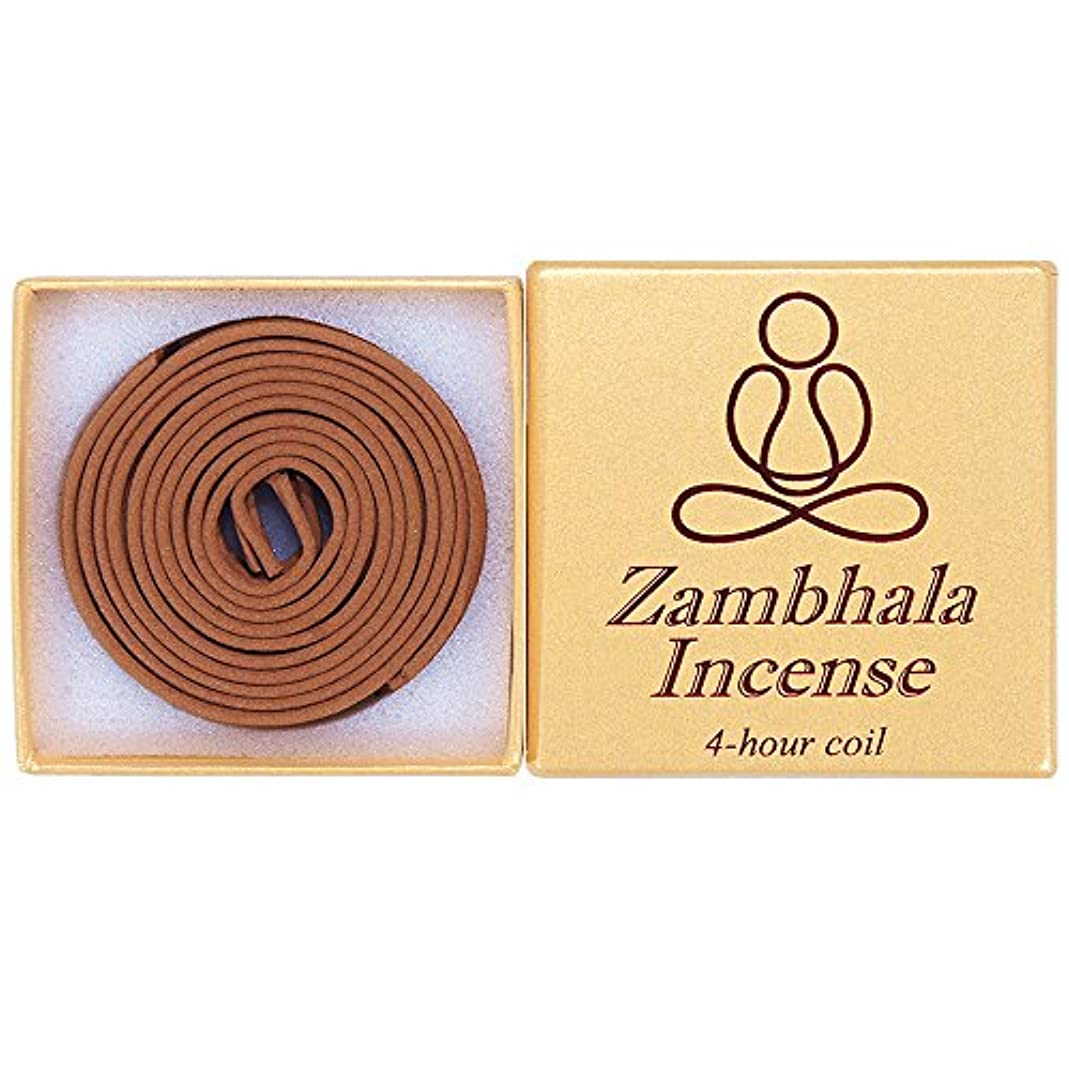 人神経障害誓約Zambhala Incense - 12 Pieces 4-hourコイル – 100 % Natural – a004t