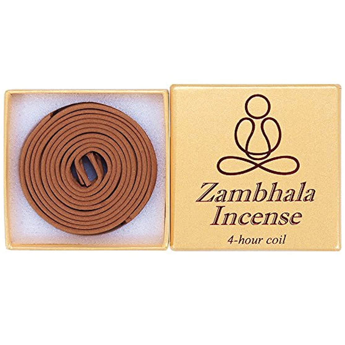 ずるい小競り合いキュービックZambhala Incense - 12 Pieces 4-hourコイル – 100 % Natural – a004t