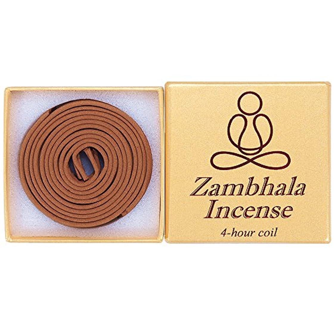 公式船尾お手入れZambhala Incense - 12 Pieces 4-hourコイル – 100 % Natural – a004t