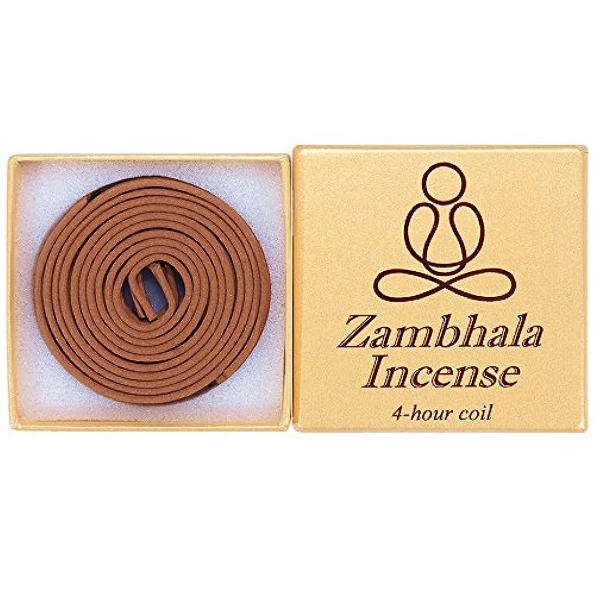 海峡セールスマンそれるZambhala Incense - 12 Pieces 4-hourコイル – 100 % Natural – a004t