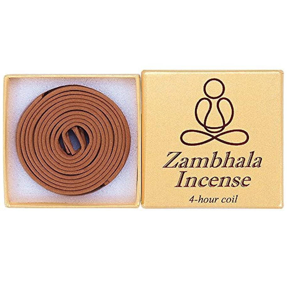 メールクスクス乏しいZambhala Incense - 12 Pieces 4-hourコイル – 100 % Natural – a004t