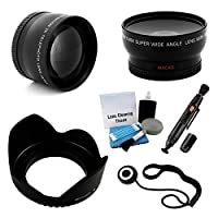 52mm Essential Lens Kit for Select Pentax Digital Cameras. Bundle Includes: 2x Telephoto Lens 0.45x HD Wide Angle Lens with Macro Flower Tulip Lens Hood and UltraPro Accessory Set [並行輸入品]