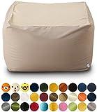 エムール 日本製 マイクロビーズクッション 『mochimochi』 キューブ XLサイズ クッション本体+専用カバー(マカロングレー)