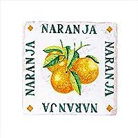 オンリーワン スペイン壁面化粧タイル ティピカルスパニッシュデザインタイル(手描き) オレンジ HJ2-ALTOR 1枚入り