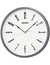 セイコー クロック 掛け時計 電波 アナログ グレー ヘアライン KX226N SEIKO
