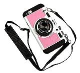 Nowest (ノウェスト) iPhone7 本格カメラ型 ケース 着せ替えで2デザインタイプ ネックストラップ (iPhone7, ピンク)