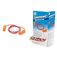 Silverline 427674 Corded Ear Plugs Snr 37 Db - Pack Of 200