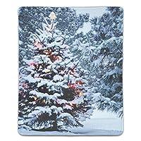 マウスパッド おしゃれ 高耐久性 滑り止め 防水 屋外のクリスマスツリー PC ラップトップ 水洗い レーザー 光学式 18*22cm
