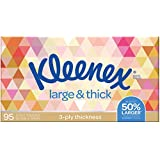 Kleenex Everyday Plus Large and Thick Facial Tissues, Pack of 95