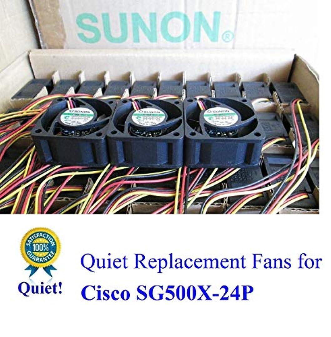 ハント溝二次超静音 Cisco SG500X-24P ファンキット 3X Sunon MagLev ファン 13~18dBAノイズ