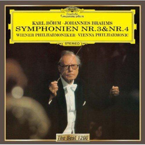 ブラームス:交響曲第3番&第4番 - ウィーン・フィルハーモニー管弦楽団 ベーム(カール)