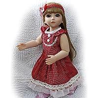 Domybest リボーンベビードール 人形 赤ちゃん 子供玩具 ビニールリアル 女の子 抱き人形 可愛い 姫様 着せ替え人形 ベビー ケア レーニング シリコン プレゼント 出産祝い 45cm