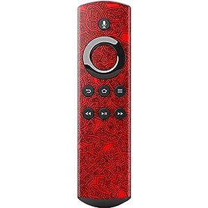 caseable スキンシール 【Alexa対応音声認識リモコン(第1世代) 】 レッドブラック柄