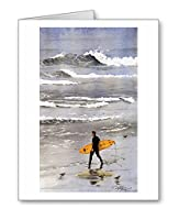 Surfer–セットof 10Note Cards with Envelopes