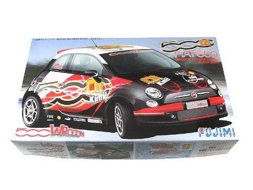 1/24 リアルスポーツカー SPOT FIAT500 WROOMバージョン 2008 (ブラック)