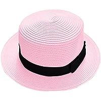 Plus Nao(プラスナオ) カンカン帽 レディース メンズ 帽子 ストローハット ユニセックス 男女兼用 ぼうし