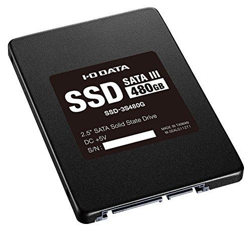 I-O DATA SSD 480GB Serial ATA III対応 PC内蔵2.5インチHDD交換用 SSD-3S480G