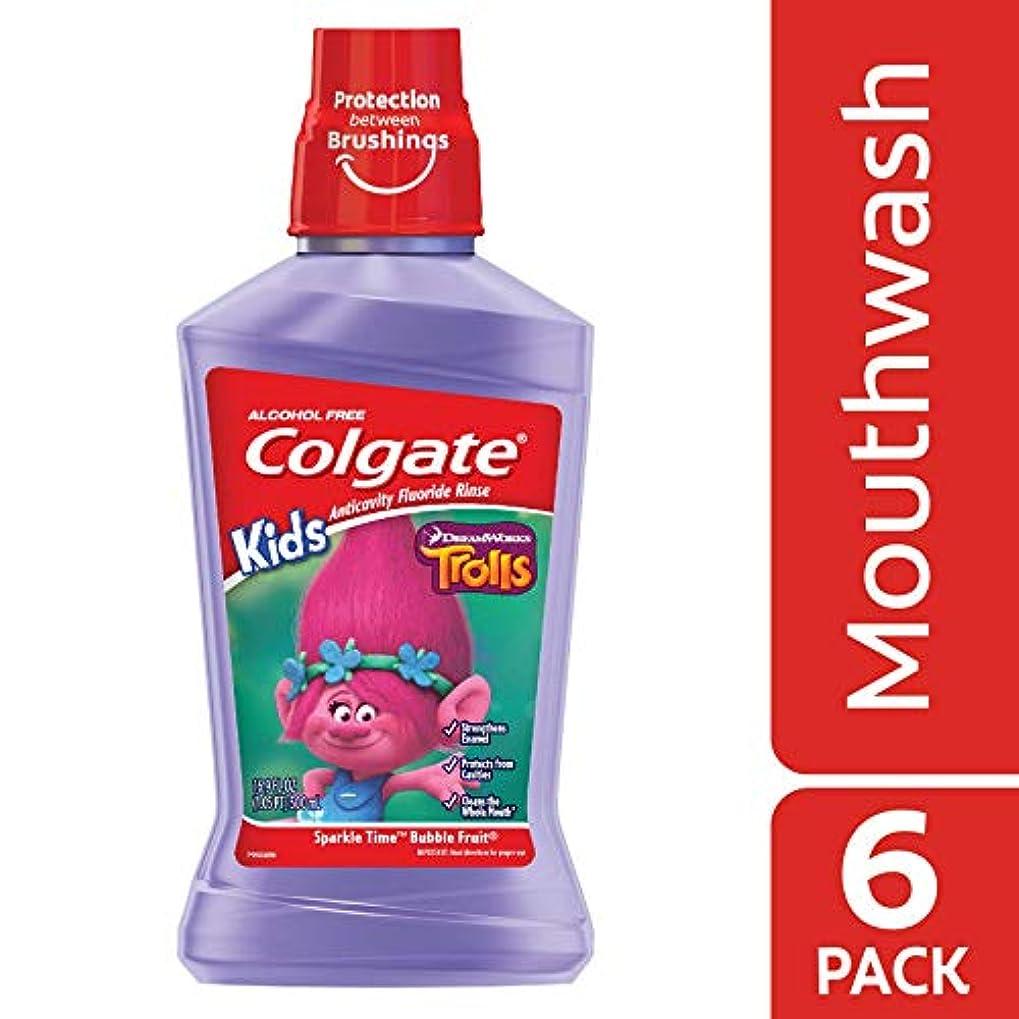 忠実うがい薬崇拝するColgate キッズトロールマウスウォッシュ、16.907液量オンス - ケースあたり6。