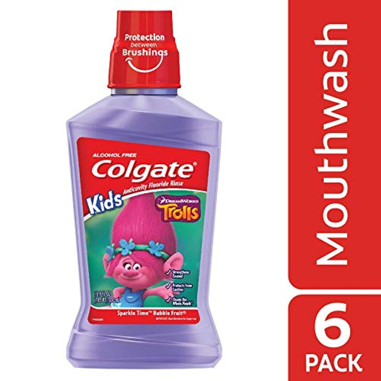 Colgate キッズトロールマウスウォッシュ、16.907液量オンス - ケースあたり6。