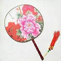 古典丸形団扇 踊り扇子団扇(うちわ)中国伝統柄古代古典宮 扇子