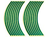 JILLS PRODUCTS リムステッカーSET 17インチ用 グリーン CB-1 CB400SF ジェイド JADE VFR400R CBR600F CB1300SF CBR1000XX VTR250 NSR250R NS-1 CB750 GSX1300R GSX-R750 バンディット インパルス イナズマ GSX-R400R XJR400R XJR1200R XJR1300 YZF-R6 YZF-R1 FZR400RR FZR1000 ZRX1200R バリオス ゼファー750 ZX-6R ZX-7R ZX-9R ZR-7 ZRX1100