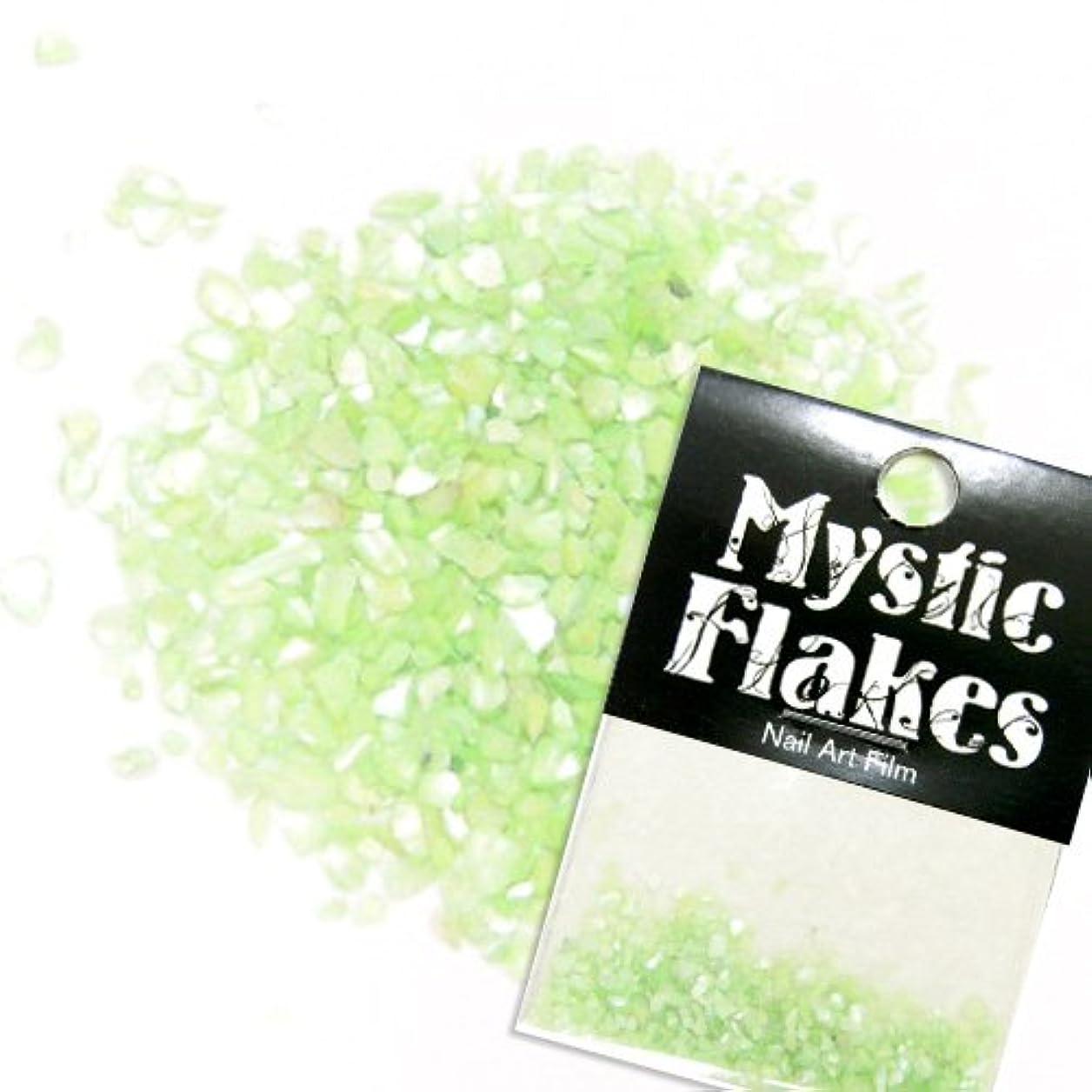 伝染性枯れる寝てるミスティックフレース ネイル用ストーン シェル ライトグリーン 0.5g