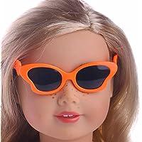 Lovoski  5ペアセット 人形 ファッション 蝶型 メガネ 18インチアメリカンガールドール適用 装飾