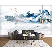 Wuyyii カスタム壁紙中国風の手描きの風景テレビの背景リビングルームの寝室の家の装飾の3D壁紙 - 120×100Cm