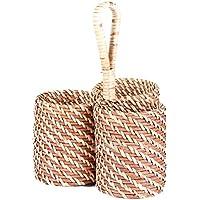 籐収納バスケット織物収納ボックス装飾