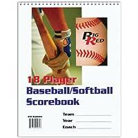Big Red 18 Player Baseball/Softball Scorebook