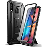 SUPCASE Unicorn Beetle Pro Series Designed for Samsung Galaxy A20 /A30 Case, Full-Body Rugged Holster Case with Built-in Screen Protector (Black)