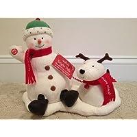 Hallmark ジングルパール アニメ 音楽の雪だるまと犬