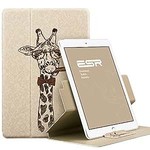 iPad Mini4 ケース 360度回転 ESR iPad Mini4 カバー レザー PU スタンド機能 軽量傷つけ防止ケース オートスリープ iPad Mini4(第四世代)スマートカバー(らくキリン)